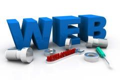Conceito do desenvolvimento da Web Foto de Stock Royalty Free