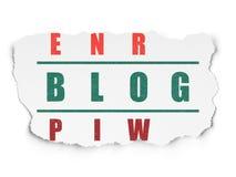 Conceito do desenvolvimento da Web: blogue da palavra na resolução Foto de Stock Royalty Free