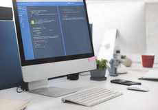 Conceito do desenvolvimento da Web da programação de software Fotografia de Stock