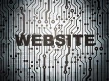 Conceito do desenvolvimento da Web: placa de circuito com Web site Imagem de Stock Royalty Free