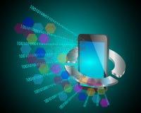 Conceito do desenvolvimento de aplicações móvel Foto de Stock Royalty Free