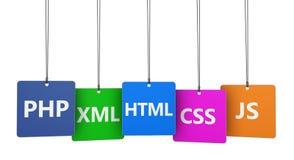 Conceito do desenvolvimento do projeto do Web site Foto de Stock Royalty Free