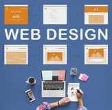 Conceito do desenvolvimento do Web site do trabalho do design web fotografia de stock royalty free