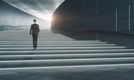 Conceito do desenvolvimento do sucesso e de carreira Imagens de Stock