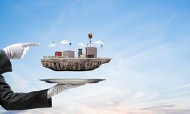 Conceito do desenvolvimento urbano moderno Imagens de Stock Royalty Free