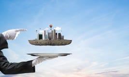 Conceito do desenvolvimento urbano moderno Imagem de Stock