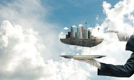 Conceito do desenvolvimento urbano moderno Fotografia de Stock Royalty Free