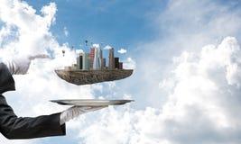 Conceito do desenvolvimento urbano moderno Fotos de Stock Royalty Free