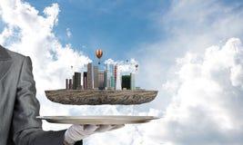 Conceito do desenvolvimento urbano moderno Foto de Stock