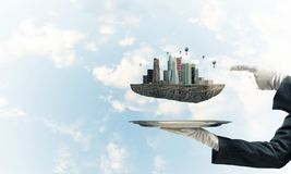 Conceito do desenvolvimento urbano moderno Imagem de Stock Royalty Free