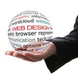 Conceito do design web fotografia de stock