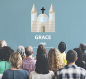 Conceito do deus da fé de Grace Hope Poise Spiritual Worship fotografia de stock royalty free