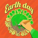 Conceito do Dia da Terra Excepto nosso planeta ilustração stock