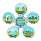 Conceito do dia de ambiente de mundo ilustração royalty free