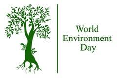 Conceito do dia de ambiente de mundo Ilustra??o do vetor ilustração do vetor