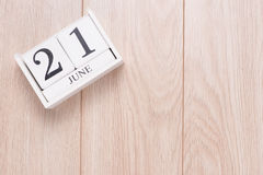 Conceito do dia do pai s 21 de junho de 2015 calendário Imagem de Stock Royalty Free