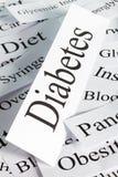 Conceito do diabetes Fotos de Stock
