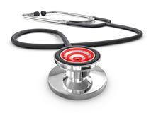 Conceito do diagnóstico do sucesso (isolado) Fotografia de Stock Royalty Free