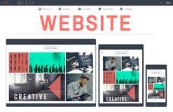 Conceito do dispositivo do homepage Digital de WWW do design web do Web site Fotografia de Stock