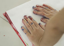 Conceito do divertimento do jogo da criança da educação da cor de água da arte Imagem de Stock Royalty Free