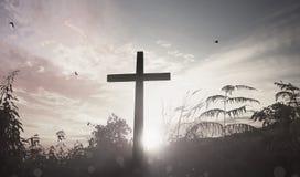 Conceito do Domingo de Páscoa: ilustração da crucificação de Jesus Christ no Sexta-feira Santa Imagem de Stock Royalty Free