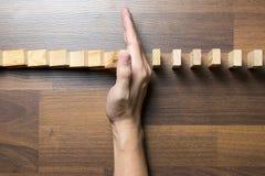 Conceito do efeito do risco do dominó Imagens de Stock Royalty Free