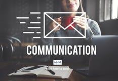 Conceito do email da correspondência da conexão de uma comunicação imagens de stock