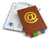 Conceito do email, do correio e da correspondência ilustração stock