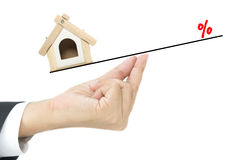 Conceito do empréstimo hipotecario foto de stock