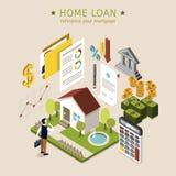 Conceito do empréstimo hipotecario Fotografia de Stock Royalty Free