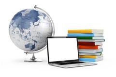 conceito do ensino eletrónico 3d e da educação ilustração stock