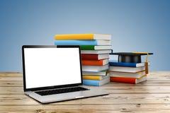 conceito do ensino eletrónico 3d e da educação ilustração do vetor