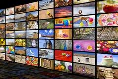 Conceito do entretenimento da HDTV foto de stock royalty free