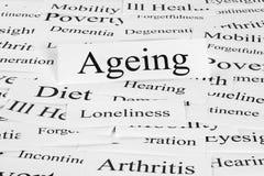 Conceito do envelhecimento Imagens de Stock Royalty Free