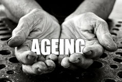 Conceito do envelhecimento fotografia de stock