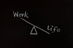 Conceito do equilíbrio da vida e do trabalho Fotografia de Stock Royalty Free