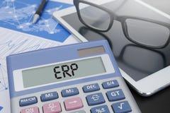 Conceito do ERP imagens de stock royalty free