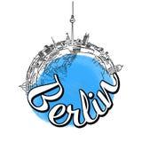 Conceito do esboço do logotipo do curso de Berlim Fotografia de Stock Royalty Free