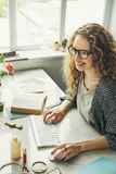 Conceito do escritório dos dados da agenda da senhora Girl Business Career Fotografia de Stock Royalty Free