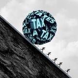 Conceito do esforço do imposto Imagens de Stock Royalty Free