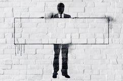 Conceito do espaço de Business Corporate Copy do homem de negócios Fotografia de Stock