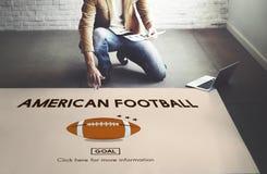 Conceito do esporte do exercício do futebol americano Imagem de Stock