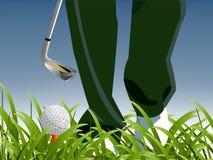 Conceito do esporte do golfe Fotografia de Stock