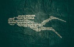 Conceito do esporte do mergulho ilustração stock