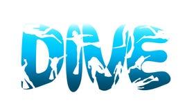 Conceito do esporte do mergulho ilustração royalty free