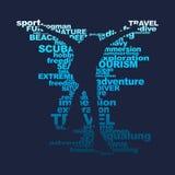 Conceito do esporte do mergulho ilustração do vetor