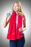 Conceito do esporte - mulher que faz esportes Imagem de Stock Royalty Free
