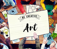 Conceito do estilo de Art Creation Craft Exhibition Imagination Imagens de Stock Royalty Free