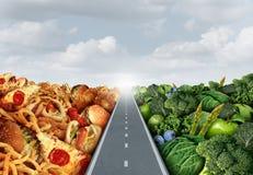 Conceito do estilo de vida da dieta ilustração do vetor