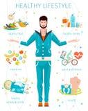 Conceito do estilo de vida saudável ilustração royalty free